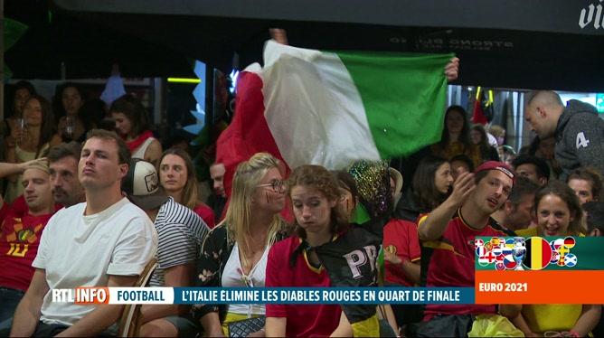 Grosse déception des supporters après l'élimination de la Belgique