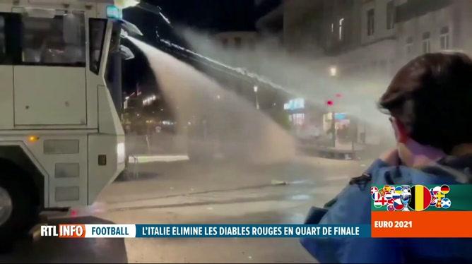 Des débordements constatés à Bruxelles après Belgique-Italie