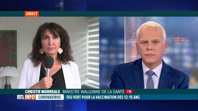 Précisions de Christie Morreale concernant la vaccination des 12 -15 ans