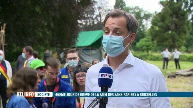 Sans-papiers en grève de la faim: la réaction d'Alexander De Croo