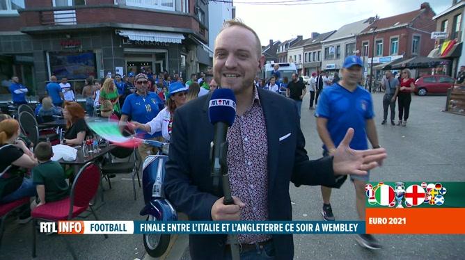 Euro 2020, la finale : Mathieu Langer est en direct de Herstal