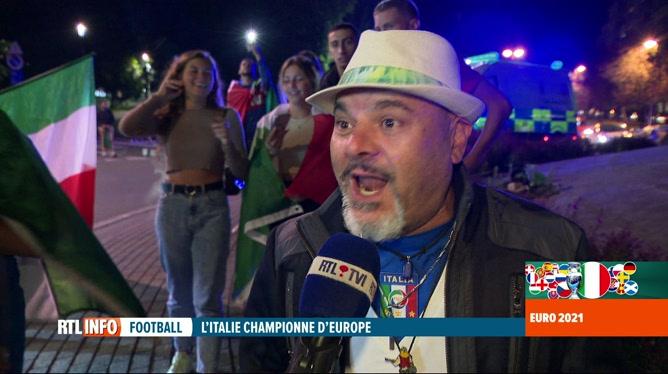 Euro 2020, la finale: la joie de la communauté italienne de Charleroi