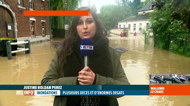 Intempéries: Justine Roldan Perez fait le point sur la situation au sud de Charleroi