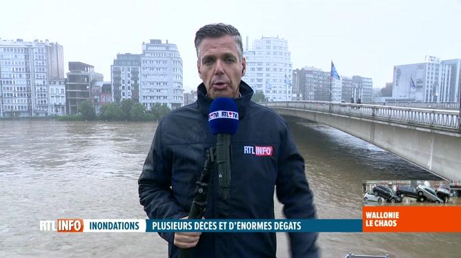 Intempéries: Serge Vermeiren est en direct des bords de Meuse à Liège