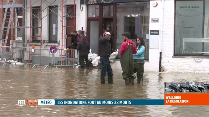Inondations: situation très compliquée à Ham-sur-Heure, dans le Hainaut