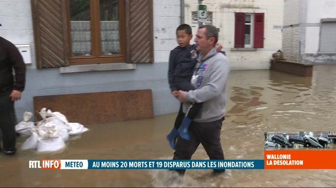 Inondations: le nettoyage s'annonce long et difficile à Ham-sur-Heure
