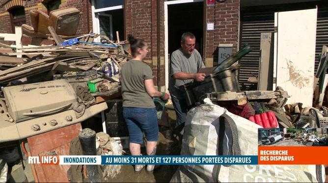 Inondations à Aiseau-Presles: la solidarité s'organise