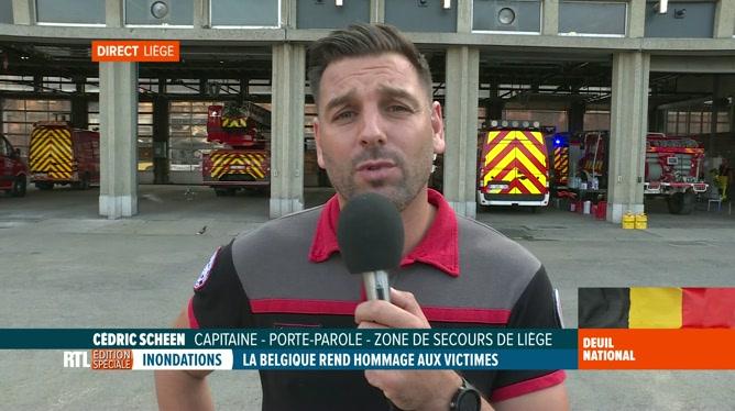 Inondations: le point du capitaine Cédric Scheen à propos des recherches