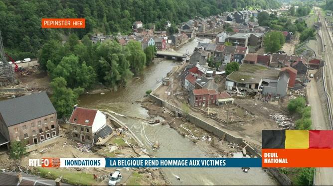 Inondations: images drone de l'ampleur de la catastrophe en Wallonie