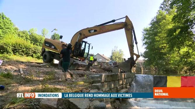 Inondations: soutien et aide matérielle de Montois aux sinistrés de Theux