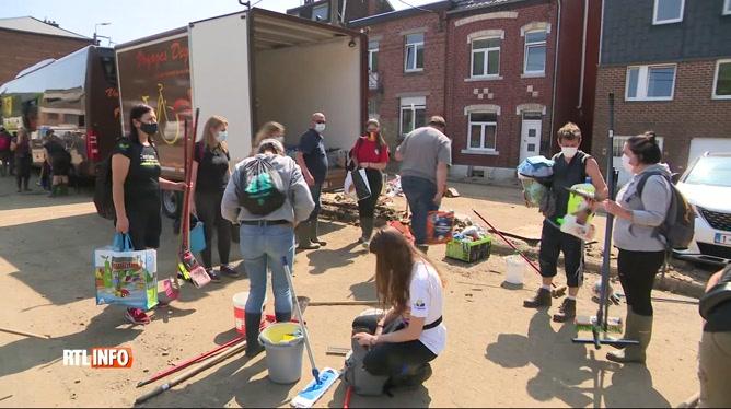 Inondations: la solidarité était encore bien présente auprès des sinistrés