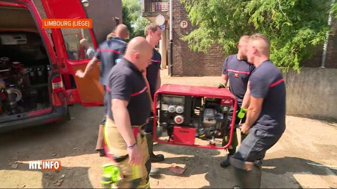 Inondations: des pompiers de Charleroi se sont rendus à Verviers