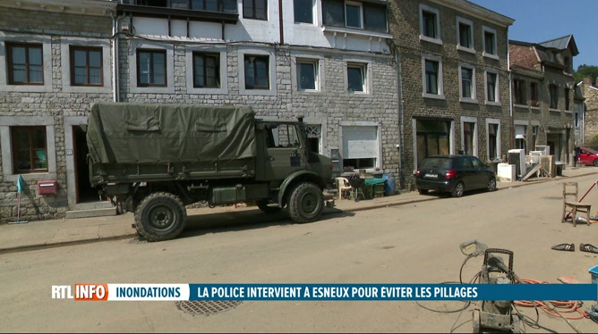 Inondations: des renforts policiers envoyés à Esneux contre les pillages