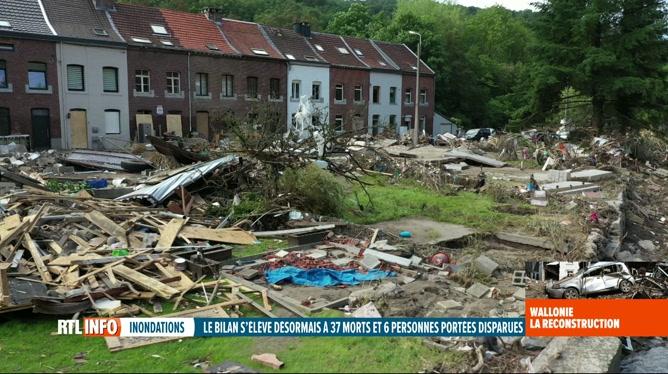 Inondations: la Wallonie va dégager 2 milliards d'euros pour se reconstruire