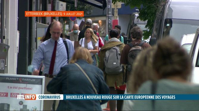 Coronavirus:  Bruxelles repasse en rouge sur la carte européenne
