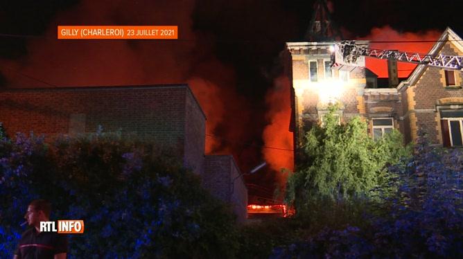 Important incendie à Gilly: 5 blessés dont un grave, le plan communal d'urgence a été déclenché