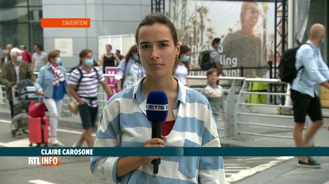 Départ en vacances: Claire Carosone est en direct de Brussels Airport