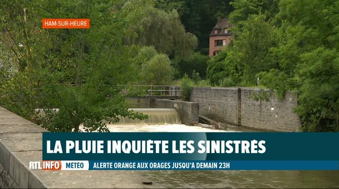 Nouvelles intempéries: vigilance de mise à Ham-sur-Heure et Gerpinnes