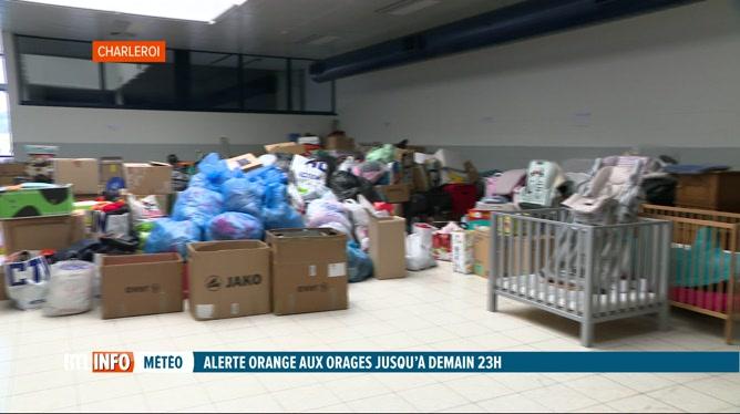 Inondations: action de solidarité à Brussels South Charleroi Airport
