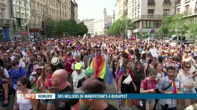 Hongrie: des milliers de personnes LGBT à la marche des fiertés de Budapest