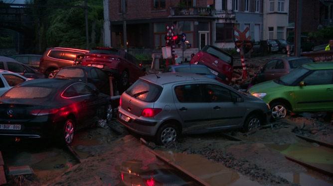 Inondations à Dinant ce samedi soir