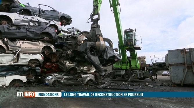 Inondations: recyclage des autos sinistrées dans des centres spécialisés