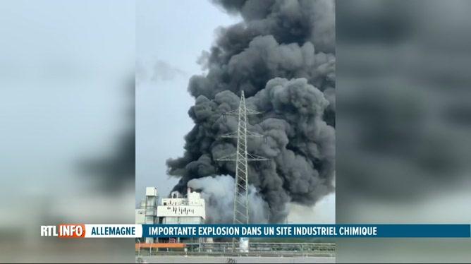 Enorme explosion sur un site chimique à Leverkusen