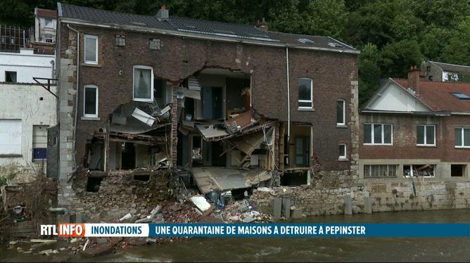 Inondations: une quarantaine de maisons doivent être démolies à Pepinster