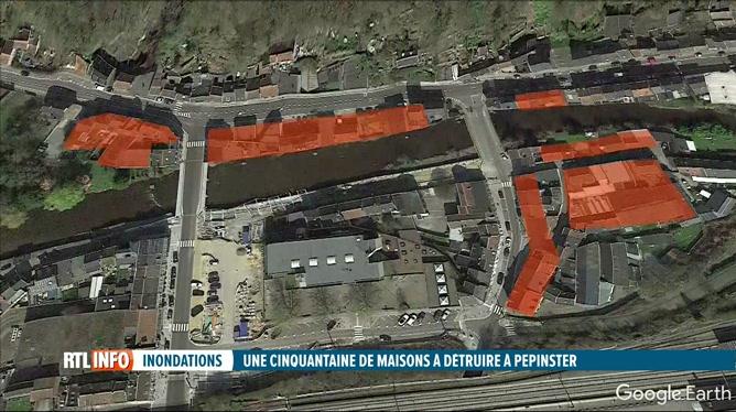 Inondations: Pepinster a dressé la liste des maisons qui seront démolies